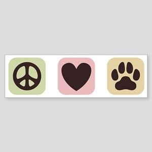 Peace Love Dogs [i] Sticker (Bumper)